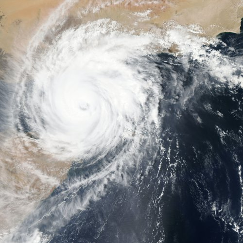 Satellite view of hurricane. Photo by NASA on Unsplash.