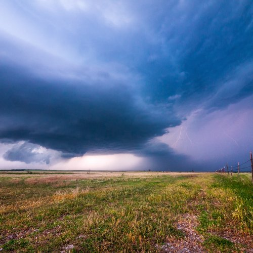 Super cell storm in rural Oklahoma. Photo by Raychel Sanner on Unsplash.